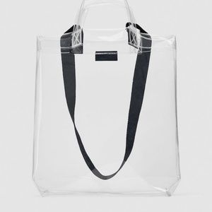 Zara Clear Plastic Tote Shopper